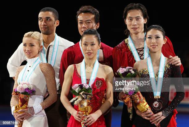 Winner Xue Shen and Hongbo Zhao of China 2nd placed Qing Pang and Jian Tong of China and 3rd placed Aliona Savchenko and Robin Szolkowy of Germany...