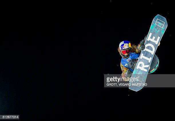 Winner Yuki Kadono from Japan competes in Big Air men snowboard competition at X Games Oslo 2016 on February 27 2016 in Oslo Scanpix / Grott Vegard...