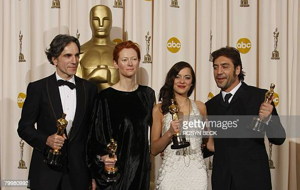 Winners for Best Actor Daniel DayLewis for Best Supporting Actress Tilda Swinton for Best Actress Marion Cotillard and for Best Supporting Actor...