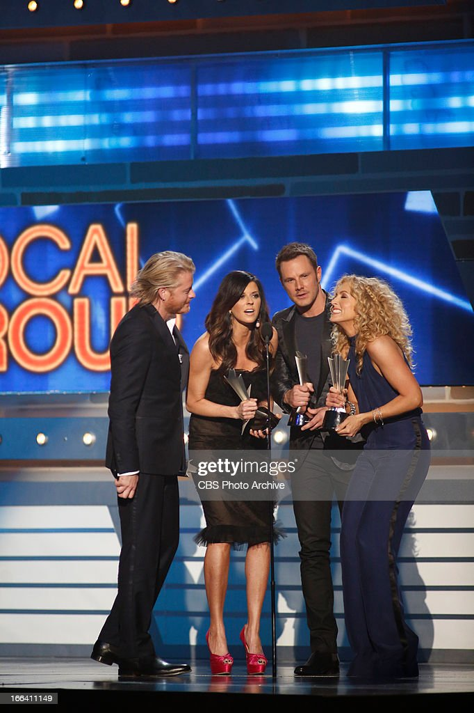 Winners, Little Big Town during The 48th Annual Academy of Country Music Awards, which will be co-hosted by Luke Bryan and Blake Shelton, will be broadcast live from the MGM Grand Garden Arena in Las Vegas Sunday, April 7 (8:00-11:00 PM live ET/delayed PT) on the CBS Television Network.