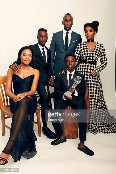 Winners of Best Acting Ensemble for 'Moonlight' Naomie Harris Ashton Sanders Mahershala Ali Alex R Hibbert and Janelle Monae pose for a portrait...