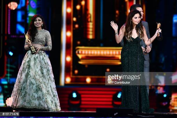 Winners of Best Playback Singer Female Kanika Kapoor for 'Da Da Dasse' from movie 'Udta Punja' and Tulsi Kumar for 'Soch Na Sake' from movie...