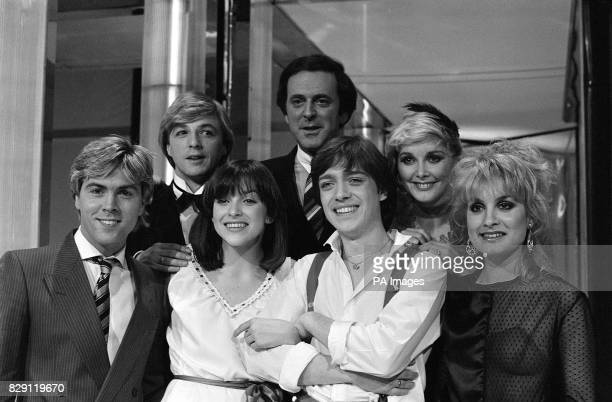 Winners of Britain's entry into the Eurovision Song Contest 'Bardo' the singing duo surrounded by pop group Bucks Fizz and Terry Wogan