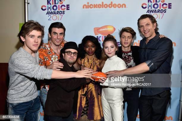 Winners of Favorite TV Show for Henry Danger Actors Sean Ryan Fox Cooper Barnes Michael Cohen Riele Downs Ella Anderson Jace Norman and Jeffrey Brown...