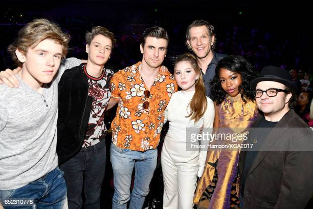 Winners of Favorite TV Show for 'Henry Danger' actors Sean Ryan Fox Cooper Barnes Michael Cohen Riele Downs Ella Anderson Jace Norman and Jeffrey...