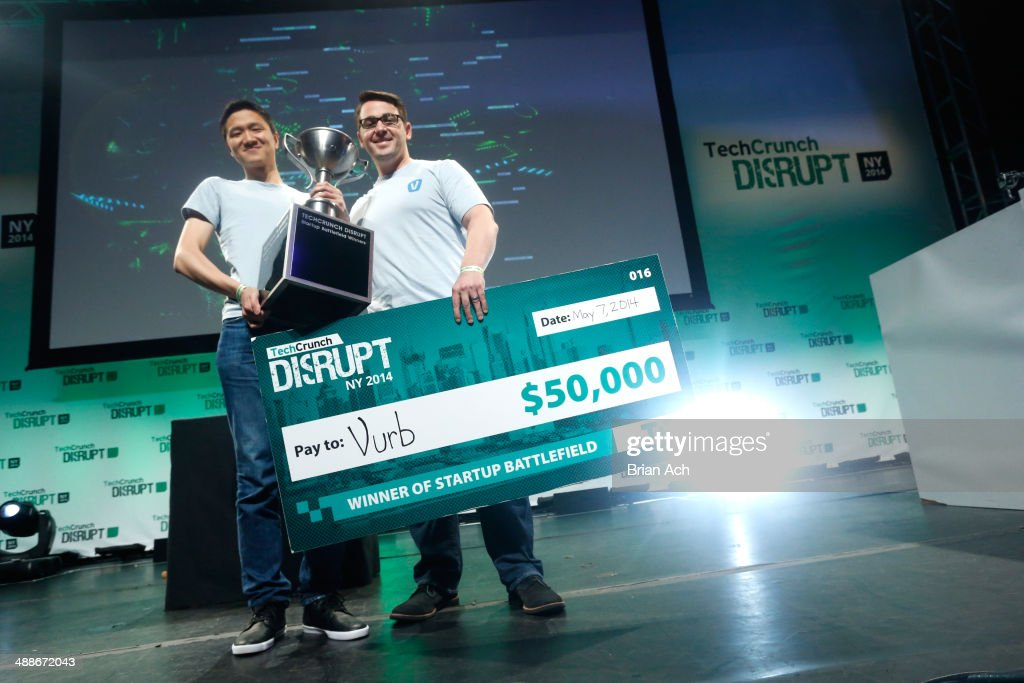 Winners of Startup Battlefield Vurb attend TechCrunch Disrupt NY 2014 Day 3 on May 7 2014 in New York City
