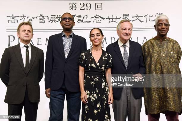 Winners of the 29th Praemium Imperiale award Latvianborn dancer and choreographer Mikhail Baryshnikov Senegalese afropop superstar Youssou N'Dour...