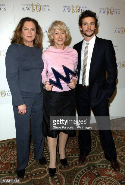 Winners of the award for TV Drama Dame Helen Mirren and Hugh Dancy with guest presenter Kathleen Turner at the 10th annual South Bank Show Awards...