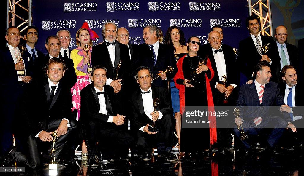Winners of the award 'Golden Antenna', 27th September 2009, 'Gran Casino de Aranjuez', Aranjuez, Madrid.