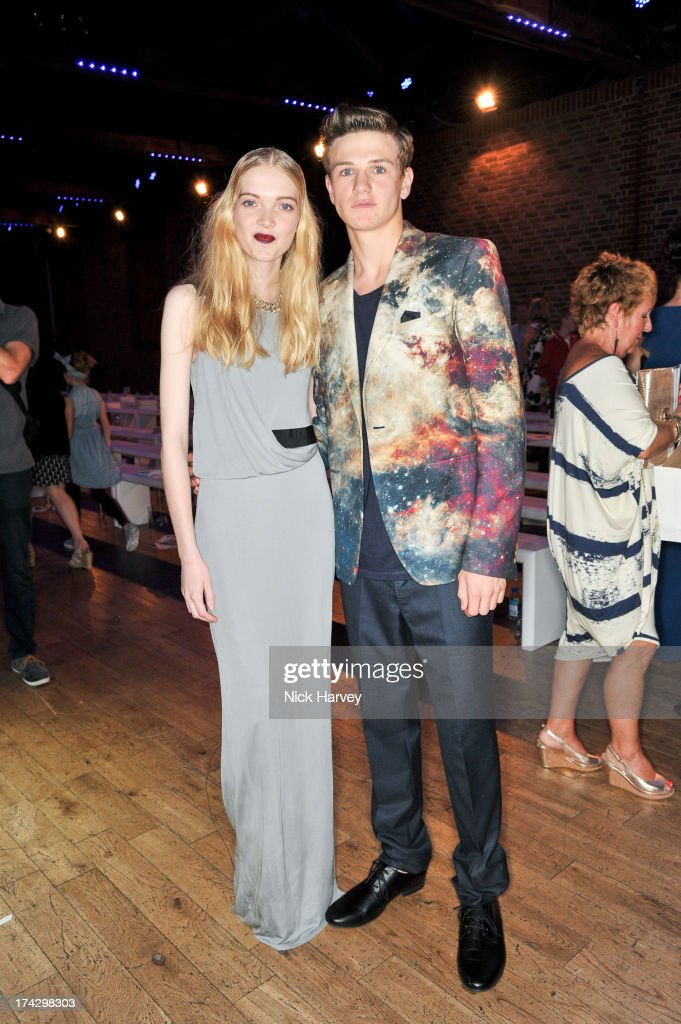 Winners of the Elite Model Management contest May Bell and Ross Trevillion attend the Elite Model Look at The Brewery on July 23, 2013 in London, England.