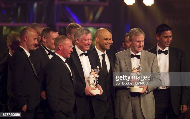 Winners of the PFA Merit Award the Manchester United Class of '92 featuring Nicky Butt George Switzer Sir Alex Ferguson John O'Kane former youth team...