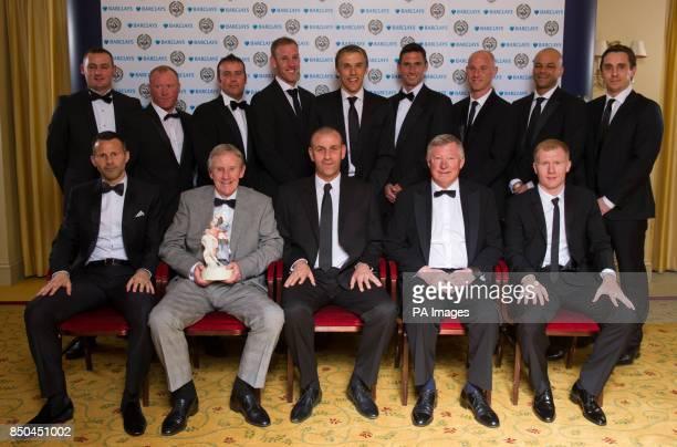 Winners of the PFA Merit Award the Manchester United Class of 92' featuring Ryan Giggs Eric Harrison Sir Alex Ferguson Paul Scholes George Switzer...