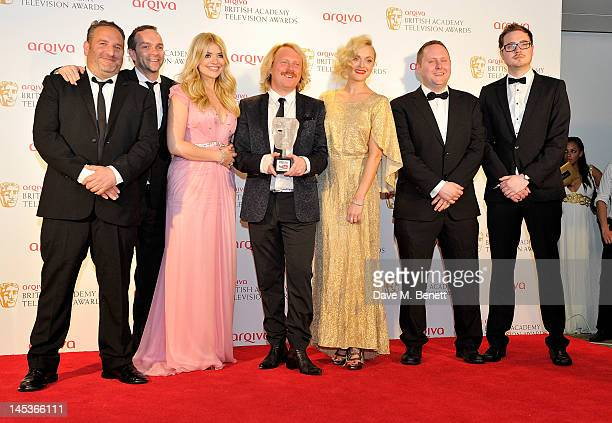 Winners of the YouTube Audience Award for Celebrity Juice Toby Baker Dan Baldwin Holly Willoughby Leigh Francis aka Keith Lemon Fearne Cotton Ed...