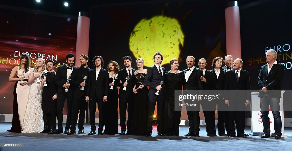 Winners on stage at the Shooting Stars stage presentation during the 64th Berlinale International Film Festival at the Berlinale Palast on February 10, 2014 in Berlin, Germany.