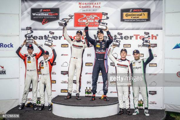 GTD winners The Park Place Motorsports Porsche 911 driven by Jorg Bergmeister and Patrick Lindsey The Paul Miller Racing Lamborghini Huracan GT3...