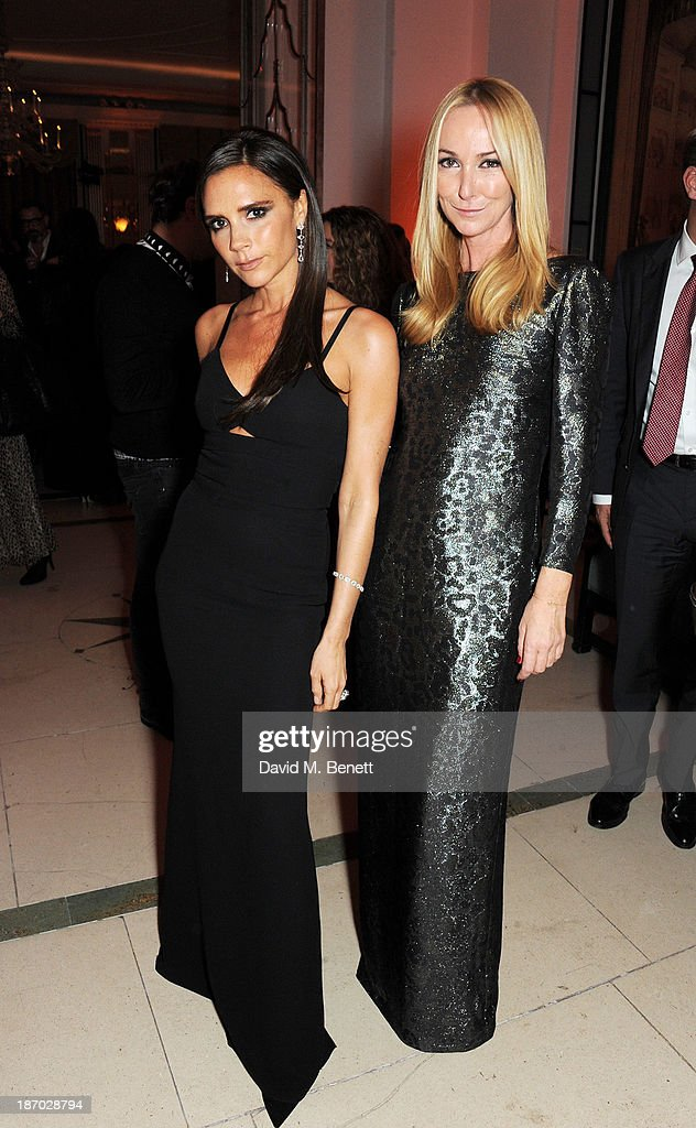 Winners Victoria Beckham (L) and Frida Giannini attend the Harper's Bazaar Women of the Year awards at Claridge's Hotel on November 5, 2013 in London, England.