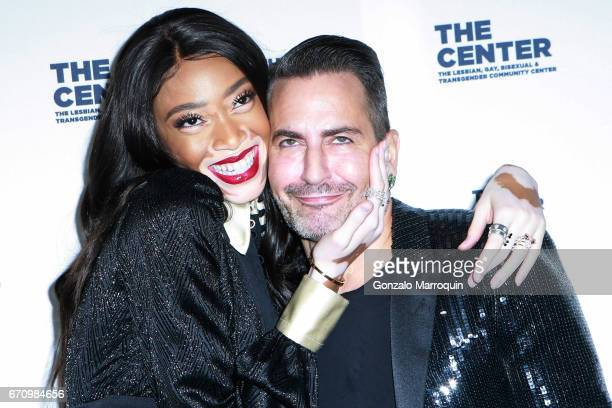 Winnie Harlow and Marc Jacobs attend the The LGBT Community Center Dinner at Cipriani Wall Street on April 20 2017 in New York City
