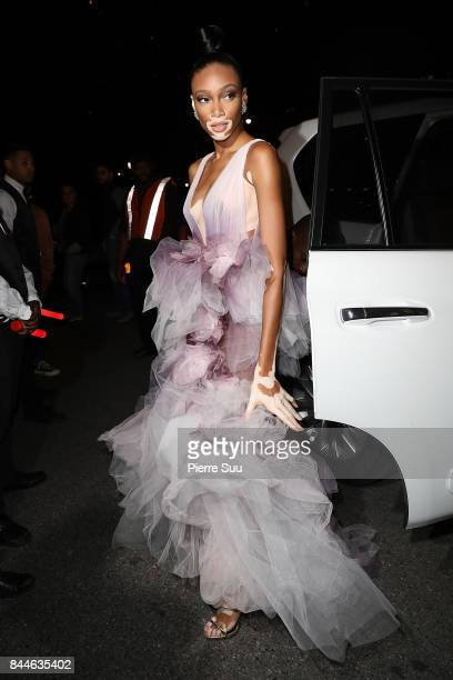 Winnie Harlow arrives at Harper's BAZAAR Celebration of 'ICONS By Carine Roitfeld' at The Plaza Hotel presented by Infor Laura Mercier Stella Artois...