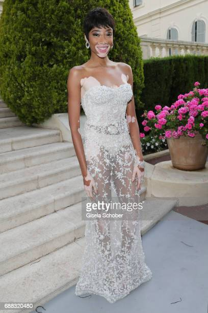 Winnie Harlow arrives at the amfAR Gala Cannes 2017 at Hotel du CapEdenRoc on May 25 2017 in Cap d'Antibes France