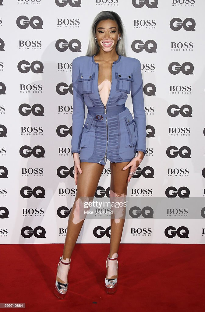 Winnie Harlow arrives for GQ Men Of The Year Awards 2016 at Tate Modern on September 6, 2016 in London, England.
