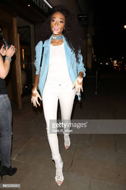 Winnie Harlow attending the Cantina Laredo launch party on October 11 2017 in London England
