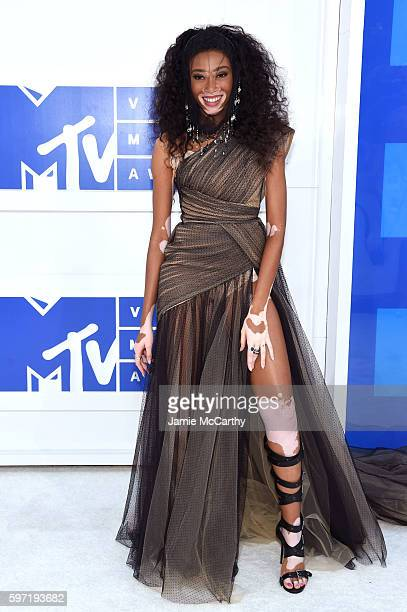 Winnie Harlow attends the 2016 MTV Video Music Awards at Madison Square Garden on August 28 2016 in New York City
