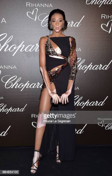 Winnie Harlow attends the Chopard dinner in honour of Rihanna and the Rihanna X Chopard Collection during the 70th annual Cannes Film Festival on the...
