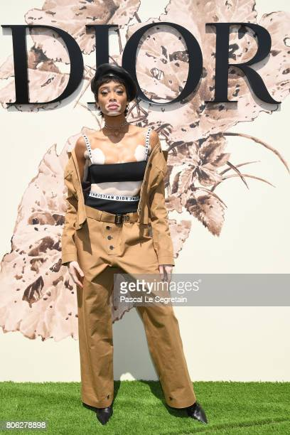Winnie Harlow attends the Christian Dior Haute Couture Fall/Winter 20172018 show as part of Haute Couture Paris Fashion Week on July 3 2017 in Paris...