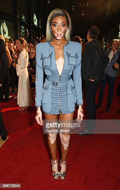 Winnie Harlow attends the GQ Men Of The Year Awards 2016 at the Tate Modern on September 6 2016 in London England