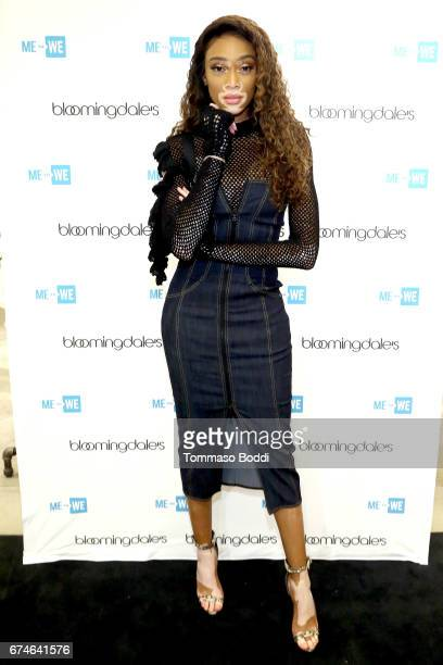 Winnie Harlow attends The ME To WE Semiprecious Launch At Bloomingdale's Sherman Oaks at Westfield Fashion Square on April 28 2017 in Sherman Oaks...