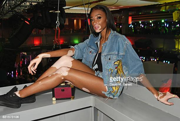 Winnie Harlow attends the NBA Global Game London 2017 after party at The O2 Arena on January 12 2017 in London England