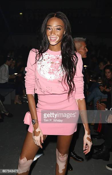 Winnie Harlow attends the Verses show during London Fashion Week Spring/Summer collections 2017 on September 17 2016 in London United Kingdom