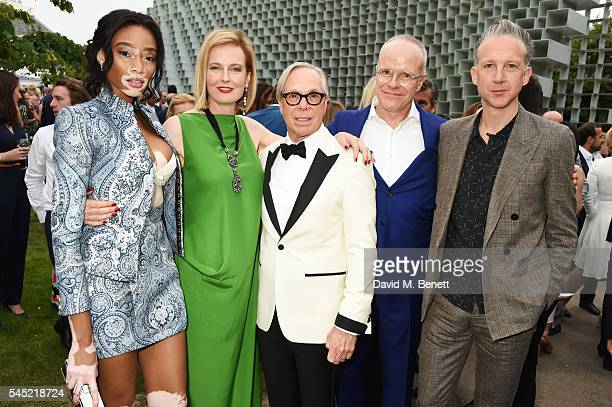 Winnie Harlow Julia PeytonJones Tommy Hilfiger HansUlrich Obrist and Jefferson Hack attend The Serpentine Summer Party cohosted by Tommy Hilfiger on...