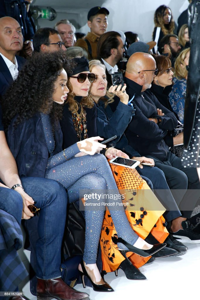 Winnie Harlow, Marisa Berenson, Brigitte Lacombe and Jean-Baptiste Mondino attend the Christian Dior show as part of the Paris Fashion Week Womenswear Spring/Summer 2018 on September 26, 2017 in Paris, France.