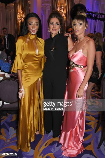 Winnie Harlow Slavica Ecclestone and Petra Stunt attend the inaugural fundraising dinner for The Petra Stunt Foundation in aid of PS Place at the...