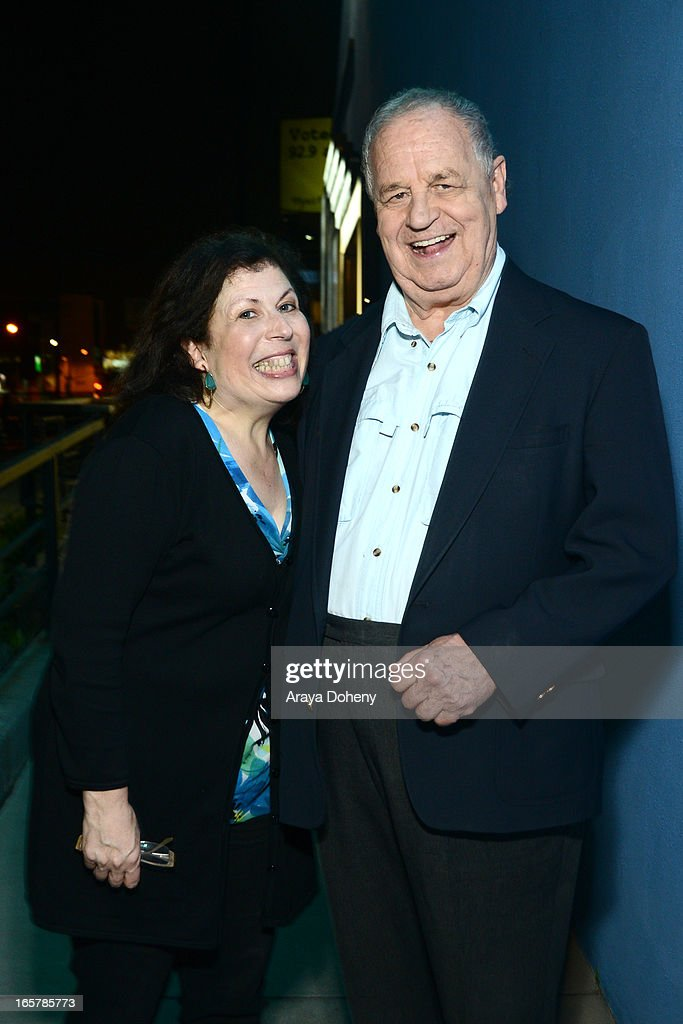 Winnie Holzman and Paul Dooley attend the opening night of 'Assisted Living' at The Odyssey Theatre on April 5, 2013 in Los Angeles, California.