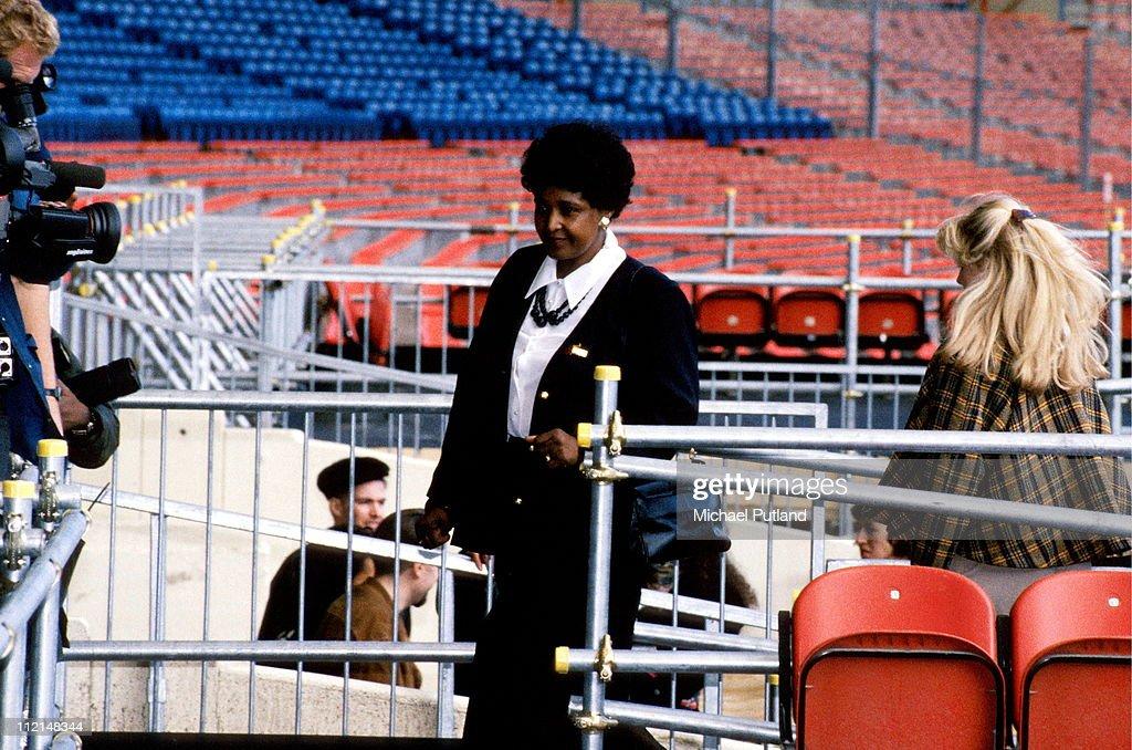 Winnie Mandela at the Nelson Mandela 70th Birthday Tribute Concert Wembley Stadium London 11th June 1988