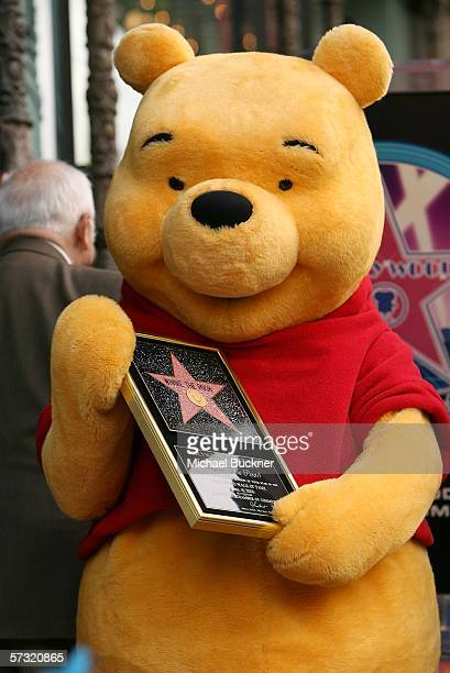 Winnie The Pooh receives a star on the Hollywood Walk of Fame in front of the El Capitan Theatre on April 11 2006 in Los Angeles California