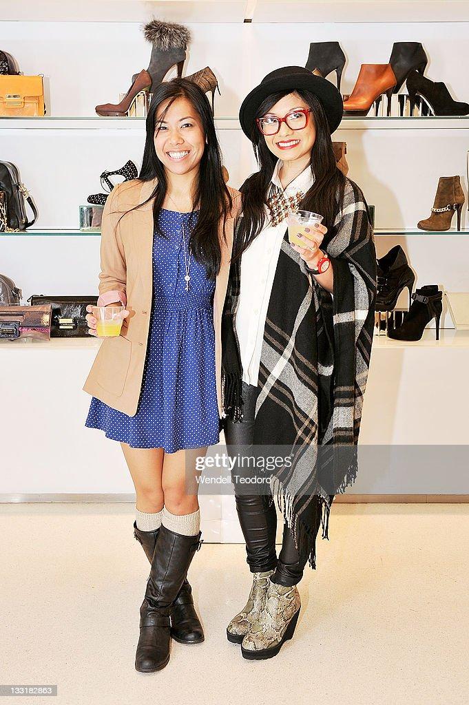 Winning Artist Yu Zhang and Janine Supnet attend the 2012 KiptonART Rising program event at Scoop NYC - Soho on November 16, 2011 in New York City.