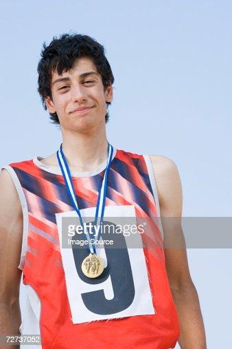 Winning athlete