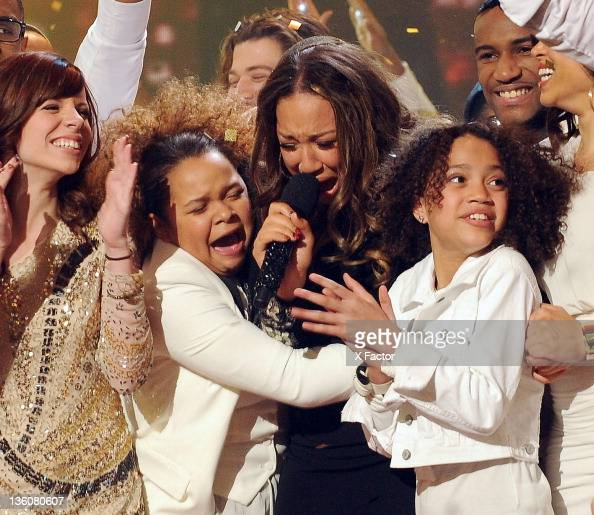 Winning contestant Melanie Amaro onstage at FOX's 'The X Factor' Live Finale Show on December 22 2011 in Hollywood California THE X FACTOR Finale...