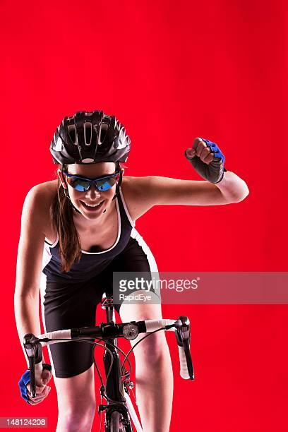 Winning cyclist