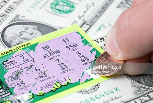 Biglietto vincente della lotteria gioco ai graffi