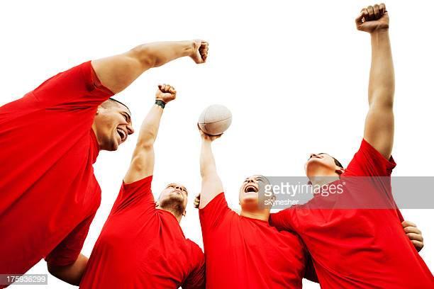 Winning rugby team.