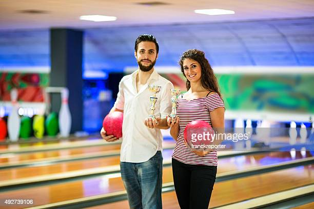 Winning the game - bowling player