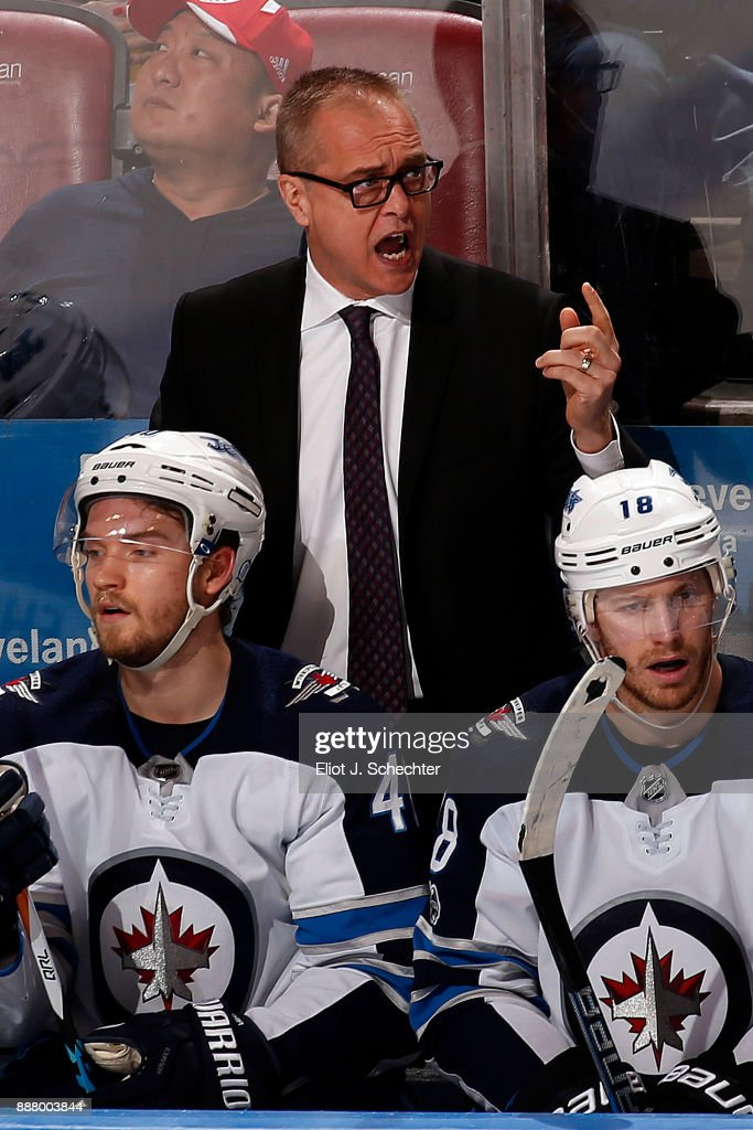 Winnipeg Jets Head Coach Paul Maurice directs his team from the bench against the Florida Panthers at the BB&T Center on December 7, 2017 in Sunrise, Florida.