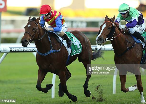 Winona Costin rides Private Secretary to win race 7 The Mark Moran Handicap during Sydney Racing at Royal Randwick Racecourse on June 6 2015 in...