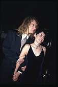 Winona Ryder and Dave Pirner in September 1993 at the premiere of the film 'The Age of Innocence' at the Ziegfeld Theater in New York City New York