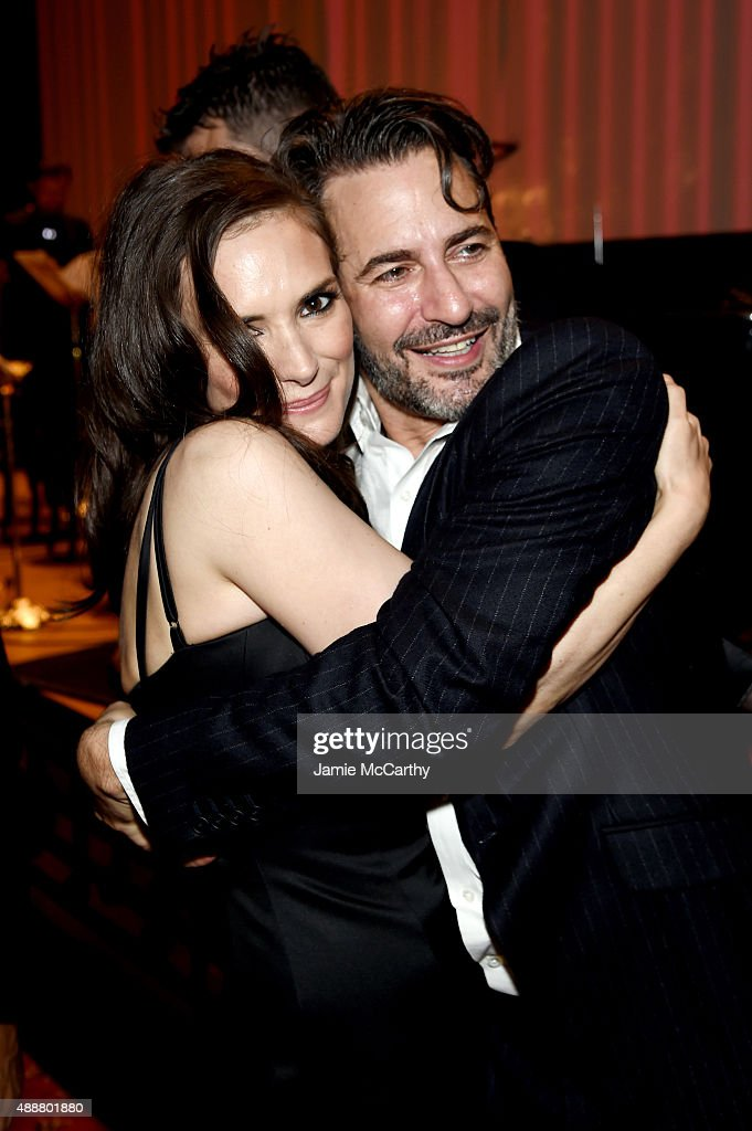 Winona Ryder and desinger Marc Jacobs attend the Marc Jacobs Spring 2016 fashion show during New York Fashion Week at Ziegfeld Theater on September...