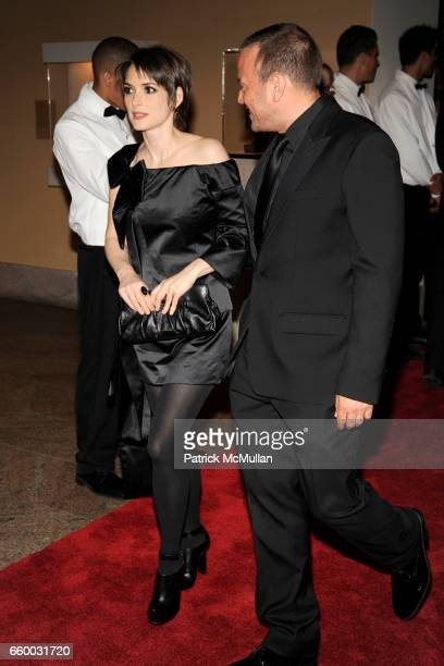 Winona Ryder and guest attend THE COSTUME INSTITUTE GALA 'The Model As Muse' with Honorary Chair MARC JACOBS INSIDE at The Metropolitan Museum of Art...